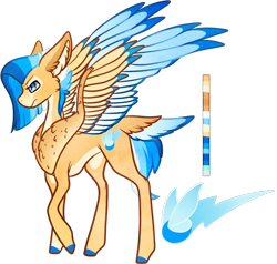 Size: 786x747   Tagged: safe, artist:velnyx, oc, oc:spark hunter, pegasus, pony, colored wings, female, mare, multicolored wings, simple background, solo, tail feathers, transparent background, wings