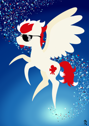 Size: 1748x2480   Tagged: safe, artist:dawn-designs-art, oc, oc:lucky knight, pegasus, pony, abstract, abstract art, abstract background, beard, facial hair, male, modern art, solo, stallion, sunglasses