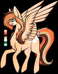 Size: 611x782   Tagged: safe, artist:velnyx, oc, oc:pumpkin parfait, pegasus, pony, female, mare, simple background, solo, transparent background