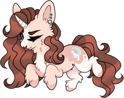 Size: 583x460 | Tagged: safe, artist:kryptidkitty, oc, oc only, oc:lucid lullaby, pony, unicorn, simple background, solo, transparent background