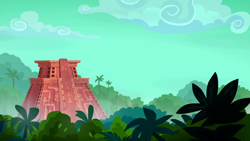 Size: 1280x720 | Tagged: safe, screencap, stranger than fan fiction, background, jungle, no pony, pyramid, scenic ponyville