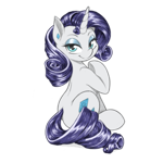 Size: 1280x1280 | Tagged: safe, artist:dstears, edit, rarity, pony, unicorn, cute, digital art, female, looking at you, looking back, looking back at you, mare, raribetes, simple background, sitting, smiling, solo, transparent background