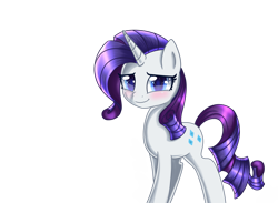 Size: 1280x939 | Tagged: safe, artist:opal_radiance, rarity, unicorn, blushing, looking at you, simple background, solo, sparkly eyes, transparent background