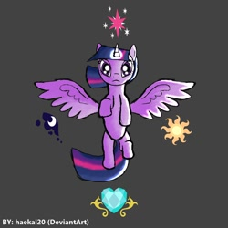 Size: 1080x1080   Tagged: safe, artist:haekal20, princess cadance, princess celestia, princess luna, twilight sparkle, alicorn, pony, twilight's kingdom, gray background, simple background, twilight sparkle (alicorn)