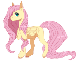 Size: 775x630 | Tagged: safe, artist:lunawolf28, fluttershy, pony, missing cutie mark, simple background, solo, transparent background