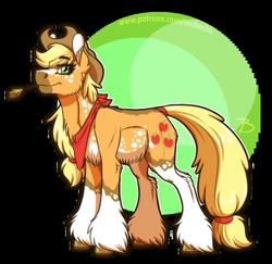 Size: 1002x975 | Tagged: safe, artist:inuhoshi-to-darkpen, applejack, pony, alternate design, simple background, solo, transparent background