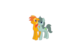 Size: 1920x1080 | Tagged: safe, artist:ricky_mckim, oc, oc only, oc:ricky, oc:toto, earth pony, unicorn, mlp fim's tenth anniversary, couple, female, happy birthday mlp:fim, mare, oc x oc, original character do not steal, shipping, simple background, transparent background
