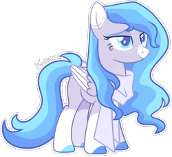 Size: 1404x1278 | Tagged: safe, artist:kurosawakuro, oc, pegasus, pony, female, mare, simple background, solo, transparent background, two toned wings, wings