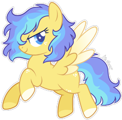 Size: 1344x1317 | Tagged: safe, artist:kurosawakuro, oc, pegasus, pony, female, mare, simple background, solo, transparent background, two toned wings, wings