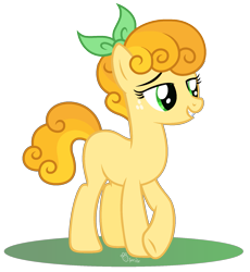Size: 1565x1699 | Tagged: safe, artist:strawberry-spritz, oc, oc only, earth pony, pony, female, mare, offspring, parent:braeburn, parent:carrot top, parents:carrotburn, simple background, solo, transparent background
