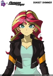 Size: 1060x1500 | Tagged: safe, artist:pyro_artwork, sunset shimmer, equestria girls, crossover, danganronpa, solo