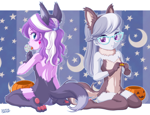 Size: 1200x918 | Tagged: safe, artist:uotapo, diamond tiara, silver spoon, equestria girls, animal costume, butt, candy, clothes, costume, cute, diamond buttiara, diamondbetes, food, fursuit, glasses, halloween, halloween costume, holiday, lollipop, looking at you, open mouth, paw pads, paws, silverbetes, toe beans, tongue out, underpaw, uotapo is trying to murder us, weapons-grade cute, wolf costume