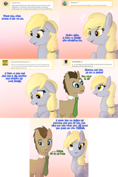 Size: 1602x2404 | Tagged: safe, artist:push-comes-to-shove, derpy hooves, doctor whooves, time turner, pony, lovestruck derpy