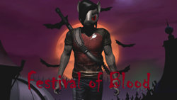 Size: 3840x2160 | Tagged: safe, artist:wolfthepredator, oc, oc only, oc:electro-crit, vampire, vampony, bats!, crossover, evil, evil eyes, halloween, halloween 2020, holiday, infamous, infamous 2, infamous festival of blood, makeup, moon, night, vein