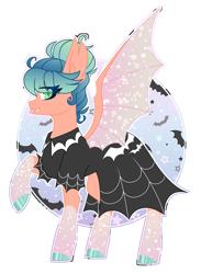 Size: 2314x3165 | Tagged: safe, artist:crazysketch101, oc, oc:misty, bat pony, pony, clothes, dress, goth