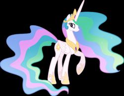 Size: 1920x1492 | Tagged: safe, artist:helenosprime, princess celestia, pony, raised hoof, simple background, solo, transparent background