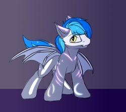 Size: 2048x1807 | Tagged: safe, artist:snowstormbat, oc, oc:midnight snowstorm, bat pony, bodypaint, clothes, costume, male, skeleton costume, smiling, solo, stallion