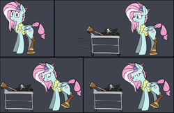 Size: 5412x3538 | Tagged: safe, artist:pinkberry, kerfuffle, pegasus, pony, absurd resolution, amputee, clothes, costume, female, halloween, halloween costume, hat, holiday, indignant, mare, nightmare night, nightmare night costume, peg leg, pirate costume, pirate hat, prosthetic leg, prosthetic limb, prosthetics, realization, solo