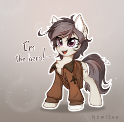 Size: 1800x1772 | Tagged: safe, artist:inowiseei, oc, earth pony, pony, clothes, female, jacket, mare, solo