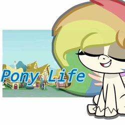 Size: 768x768 | Tagged: safe, oc, my little pony: pony life, solo