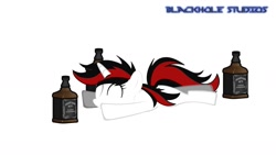 Size: 1701x957 | Tagged: safe, artist:blackholestudios, screencap, oc, oc:blackjack, unicorn, fallout equestria, fallout equestria: project horizons, abstract background, alcohol, eyes closed, fanfic art, happy, lying, mine, satisfied, whiskey