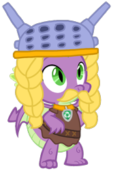 Size: 672x1011   Tagged: safe, artist:徐詩珮, edit, vector edit, spike, dragon, series:sprglitemplight diary, series:sprglitemplight life jacket days, series:springshadowdrops diary, series:springshadowdrops life jacket days, my little pony: the movie, alternate universe, clothes, costume, halloween, halloween costume, male, paw patrol, rocky (paw patrol), simple background, solo, transparent background, vector, winged spike