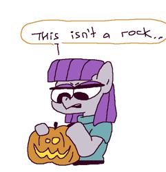 Size: 598x621 | Tagged: safe, artist:grinwild, maud pie, halloween, holiday, pumpkin, solo