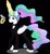 Size: 5023x5427 | Tagged: safe, artist:anime-equestria, princess celestia, alicorn, alternate hairstyle, bowtie, clothes, eyeshadow, female, glowing horn, gun, handgun, horn, james bond, levitation, magic, makeup, mare, pistol, ponytail, simple background, smiling, solo, suit, telekinesis, transparent background, tuxedo, weapon, wings