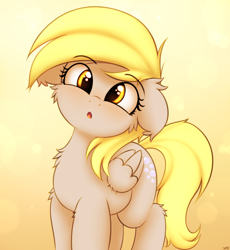 Size: 2300x2500   Tagged: safe, artist:heavymetalbronyyeah, derpy hooves, pegasus, pony, blushing, cheek fluff, chest fluff, cute, derpabetes, ear fluff, floppy ears, looking at you, open mouth, solo, underp, weapons-grade cute