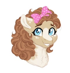 Size: 1024x1070 | Tagged: safe, artist:azure-art-wave, oc, oc:mocha latte, pony, bust, female, mare, offspring, parent:cinnamon chai, parent:donut joe, parents:cinnamon donut, portrait, simple background, solo, white background