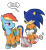 Size: 731x800 | Tagged: safe, artist:boscoloandrea, rainbow dash, hedgehog, pegasus, pony, bashing, bound wings, clothes, cuffs, duo, prison outfit, prisoner, prisoner rd, running, simple background, smiling, smirk, sonic the hedgehog, sonic the hedgehog (series), sonic vs rainbow dash, transparent background, unamused, wing cuffs, wings