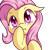 Size: 1600x1600 | Tagged: safe, artist:magician-horse, fluttershy, bat pony, pony, :3, bat ponified, blushing, bust, covering mouth, cute, fangs, female, floppy ears, flutterbat, full face view, looking at you, mare, portrait, race swap, raised hoof, red eyes, shyabates, shyabetes, simple background, solo, transparent background