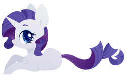 Size: 4000x2423 | Tagged: safe, artist:belka-sempai, rarity, pony, unicorn, colored pupils, cute, female, high res, lying down, mare, profile, prone, raribetes, simple background, solo, transparent background