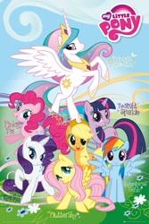 Size: 683x1024 | Tagged: safe, applejack, fluttershy, pinkie pie, rainbow dash, rarity, twilight sparkle, anthro, mane six, official, original, photo, poster