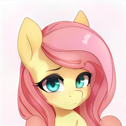 Size: 1024x1024 | Tagged: safe, artist:thisponydoesnotexist, pegasus, pony, female, looking at you, mare, neural network, not fluttershy, simple background, solo