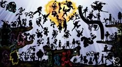 Size: 2155x1192 | Tagged: safe, artist:gusjr, twilight sparkle, alicorn, genie, pikachu, pony, yoshi, adventure time, allen walker, animal crossing, arnold, asta, barely pony related, bart simpson, bayonetta, bayonetta (character), ben tennyson, blinky, bloom, bloom (winx club), blossom (powerpuff girls), bubbles (powerpuff girls), bugs bunny, buttercup (powerpuff girls), cloud strife, clyde, craig, crona, crossover, d.k., daffy duck, danny phantom, dark pit, dexter, dexter's laboratory, dipper pines, donald duck, donkey kong, donkey kong series, double d, duck hunt, earthbound, ed, ed edd n eddy, eddy, ever after high, ezekiel zick, fanboy and chum chum, final fantasy, final fantasy vii, finn the human, fox mccloud, frankie stein, game & watch, globby, goku, gon freecss, goofy, gravity falls, grizz, gumball watterson, harley quinn, heinz doofenshmirtz, hey arnold, homer simpson, ice bear, inky, inuyasha, izuku midoryia, jake the dog, jenny wakeman, jibanyan, k.o. (ok k.o.!), kaede, kenshi masaki, kid icarus, kim possible, kingdom hearts, kirby, kirby (character), kowalski, link, lucy, mabel pines, madagascar, mario, mass crossover, metal gear, metal gear solid, metroid, momakase, monkey d luffy, monster high, mr. game & watch, my life as a teenage robot, nate, natsu dragneel, neku sakuraba, ness, nintendo, noodle burger boy, nyu, ok k.o.! lets be heroes, ok ko let's be heroes, old man mcgucket, olimar, one piece, pac-man, panda (we bare bears), phineas and ferb, pinky (pac-man), pit (kid icarus), pokémon, princess sofia, private, r.o.b., randy cunningham, raven queen, rex salazar, richter belmont, rico, rimuru, robotic operating buddy, ryu, saiki kusuo, samus, samus aran, senku ishigami, shantae, shantae (character), shantae the 1/2 genie, shrek, shulk, silhouette, skipper, sofia the first, solid snake, sonic the hedgehog, sonic the hedgehog (series), sora, spider-man, spinel (steven universe), star fox, star vs the forces of evil, steven universe, stitch, super ma