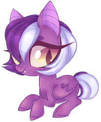 Size: 439x529 | Tagged: safe, artist:misspinka, oc, oc only, bat pony, pony, chibi, female, mare, simple background, solo, transparent background