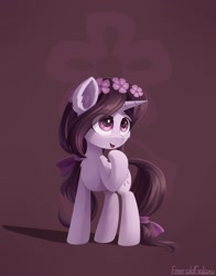Size: 1024x1309 | Tagged: safe, artist:emeraldgalaxy, oc, oc only, pony, unicorn, chibi, female, mare, solo