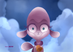 Size: 3507x2481 | Tagged: safe, artist:poxy_boxy, pom (tfh), lamb, sheep, them's fightin' herds, community related, female, looking at you, solo, thousand yard stare