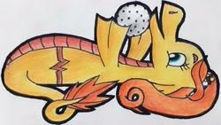 Size: 2540x1435   Tagged: safe, artist:melisareb, oc, oc only, oc:radomila radon, siren, ball, clairev, cute, female, granite, klara viskova, ocbetes, solo, traditional art