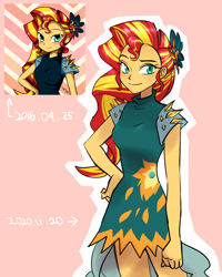 Size: 1280x1600 | Tagged: safe, artist:haden-2375, sunset shimmer, equestria girls, legend of everfree, alternate hairstyle, clothes, crystal gala dress, dress, female, redraw, solo