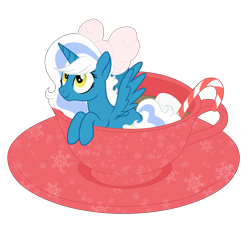 Size: 1700x1700 | Tagged: safe, artist:katelynleeann42, oc, oc only, oc:fleurbelle, alicorn, pony, bow, cup, cup of pony, female, hair bow, mare, micro, simple background, solo, teacup, transparent background