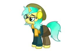 Size: 1074x750   Tagged: artist needed, safe, oc, oc only, pony, unicorn, 2021 community collab, derpibooru community collaboration, clothes, female, glasses, mare, scarf, simple background, solo, transparent background