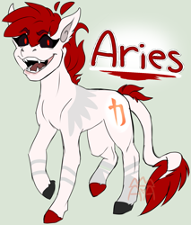 Size: 1427x1673 | Tagged: safe, artist:the-star-hunter, oc, oc only, earth pony, pony, black sclera, colored hooves, earth pony oc, fangs, leonine tail, open mouth, sharp teeth, solo, teeth