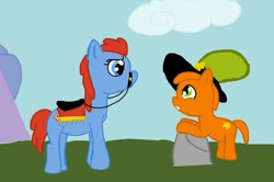 Size: 564x375 | Tagged: safe, artist:dipper4596, earth pony, pony, cloud, ponified, sylvia, wander (wander over yonder), wander over yonder