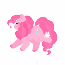 Size: 2048x2048 | Tagged: safe, artist:sodabonnie, pinkie pie, earth pony, pony, colored hooves, cute, diapinkes, eyes closed, female, high res, mare, profile, simple background, smiling, solo, white background