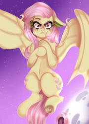 Size: 738x1024 | Tagged: safe, fluttershy, bat pony, bat ponified, flutterbat, mane six, race swap