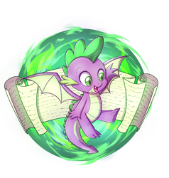 Size: 1511x1589 | Tagged: safe, artist:nessaka-v, artist:nessakav, part of a set, spike, dragon, cute, male, open mouth, paper, scroll, simple background, solo, spikabetes, spread wings, transparent background, winged spike, wings