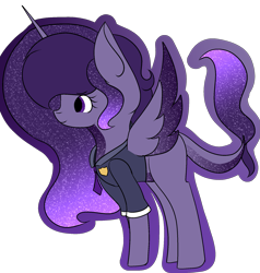 Size: 1823x1913 | Tagged: safe, artist:thecommandermiky, oc, oc:commander miky, alicorn, ethereal mane, galaxy mane, police uniform