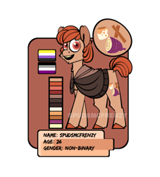 Size: 1000x1100 | Tagged: safe, artist:spudsmcfrenzy, oc, earth pony, pony, ambiguous gender, solo